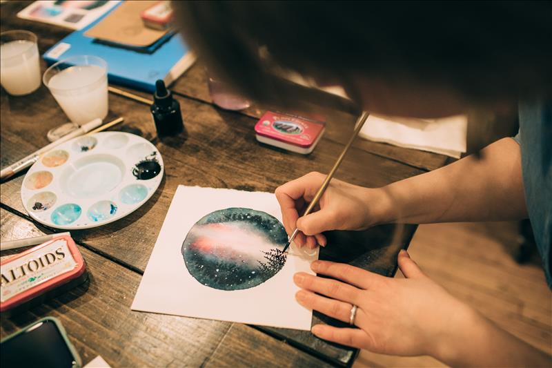Gather: Watercolor galaxies